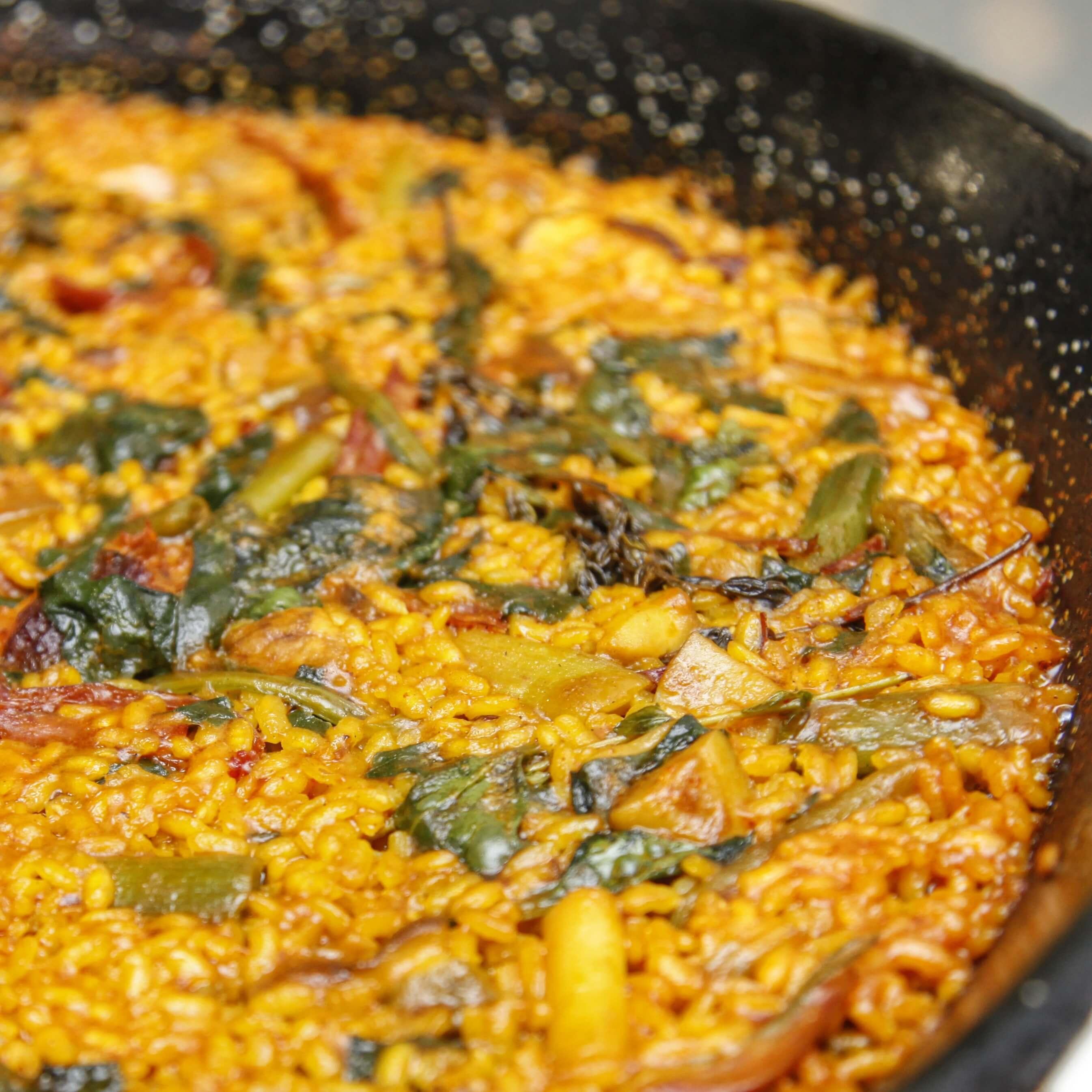 Paella de verduras la Cuina de Karlos Escoto